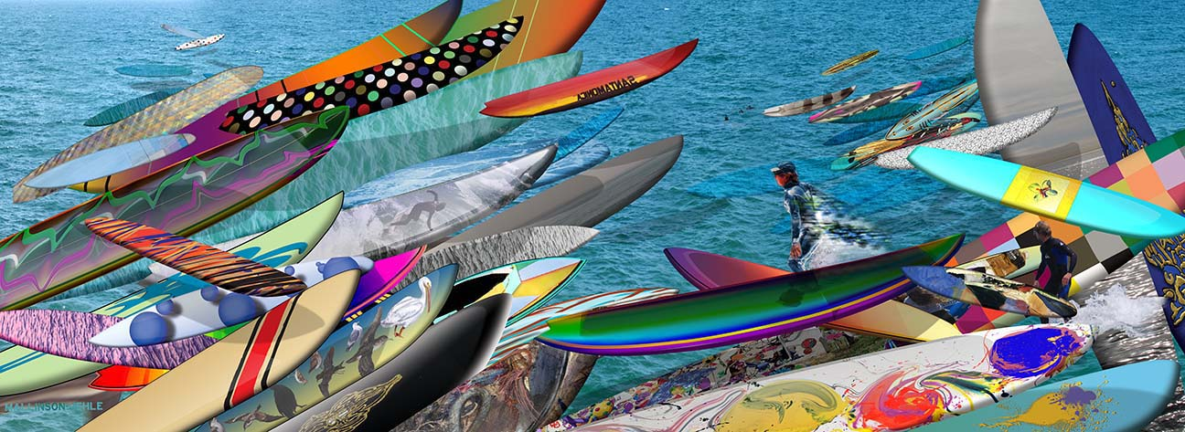 Surf Culture, digital photo collage, 99x37